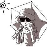 紫外線対策で日傘の色と、日光アレルギーに有効なUVカット率100%のヒガサ!